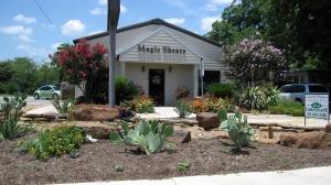 a lovely entrance at Magic Shears