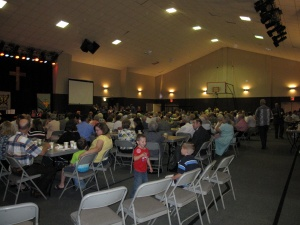 Everyone (EVERYONE) came to celebrate Linda's presence in our church